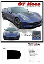 2014 2019 Chevy Corvette C7 Hood Center Blackout Vinyl