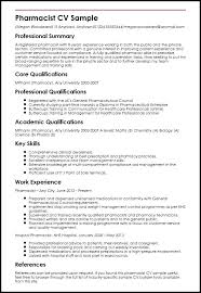 Pharmacist Resume Template Fascinating Pharmacist Resume Template Pharmacy Cv Uk Creerpro