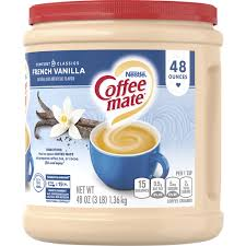 You can get a whole case of 12 so you don't run out. Coffee Mate French Vanilla Powder Coffee Creamer 48 Oz Canister Shop Mackenthuns