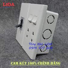 Combo ổ cắm điện âm tường có cầu dao chống quá tải 15A + công tắc đèn