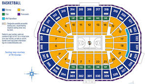 td garden seating map for celtics other basketball