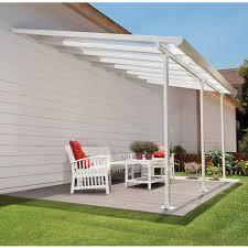 palram feria 26 ft w x 13 ft d polycarbonate patio cover white clear com