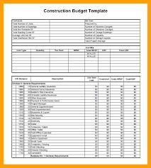 Budget Construction Budget Construction Final Excel Budget