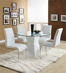 modern gl round dining table