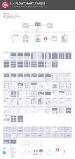 ux flowchart cards sitemap by codemotion design kits on creative market