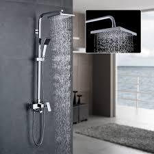 Auralum Duschset Duschkopf Mischbatterie 3 Funktion Duschsystem Mit Brause Wasserhahn Duschköpfe Duscharmatur Brauseseteinstellbare Duschrohrs