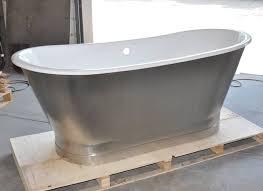 67 cast iron double ended stainless steel slipper pedestal tub for enameled bathtub prepare 18