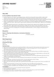 Sample Traders Resume International Trade Resume Sample Ready To Use Example