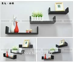 Where To Buy Floating Shelves Philippines Impressive Elegant Floating Shelves U Walnut Brown Finish Set Of 32 Shelf Modern