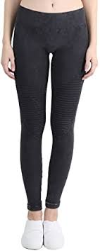 NIKIBIKI Women Seamless <b>Vintage Moto</b> Leggings, Made in U.S.A ...