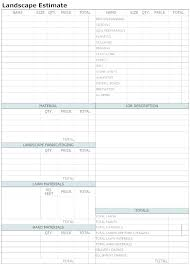 Job Sheet Templates Enchanting Contractor Blank Estimate Sheet Template Work Order Templates For