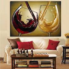 Small Picture 3D Hand Painted Canvas Wine Oil Paintings Living room Home Decor