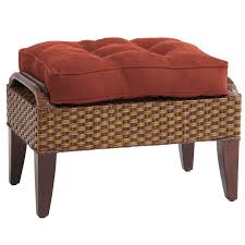 temani brown wicker ottoman  pier  imports