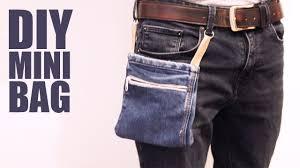 diy mini bag no sew belt bag or pack making