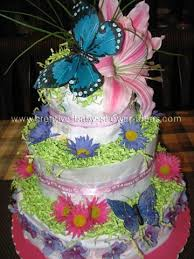 Our Diaper Cake Centerpiece Gallery The Webs Largest