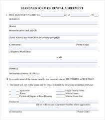 Standard Rental Agreement Template Leasing Agreement 7 Free Pdf Download