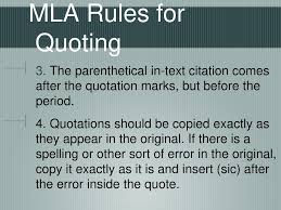 Mla Quoting And In Text Citations Ppt Download