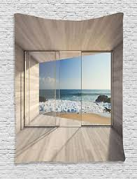 Small Picture Modern Architecture Design Glass View of Ocean Sand Shore Wall