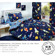 bedlam supersonic glow in the dark duvet cover set single bed size