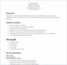 Bartender Duties For Resume Magnificent Bartender Duties Resume Amazing Waiter Job Description For Resume