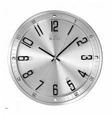 bulova c4646 silhouette clock brushed stainless steel finish home kitchen