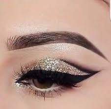 glitter nos olhos more black eyeshadow makeup gold