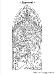 Small Picture Pentecost coloring page Catholic Playground