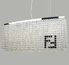 rectangular crystal chandelier dining room rectangular crystal chandelier