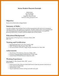 Resume For Nurses Templates 9 10 Resume Templates Nursing Students Juliasrestaurantnj Com