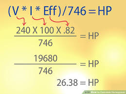 How To Calculate Horsepower 12 Steps With Pictures Wikihow