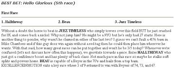 Equibase Full Charts Equibase Daily Racing Form Edition