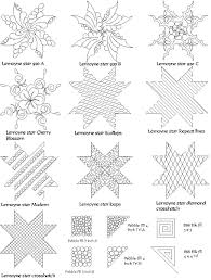 Longarm Quilting Designs Free Computerized Digitized Quilting Patterns For A Lemoyne Star
