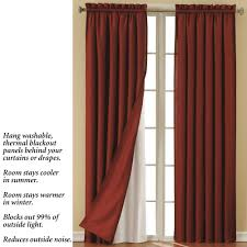 brown blackout curtains target with cream wall and wooden floor for home interior design ideas