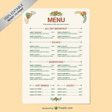 Menus Templates Free New 48 Restaurant Menu Templates Vectors Download Free Vector Art