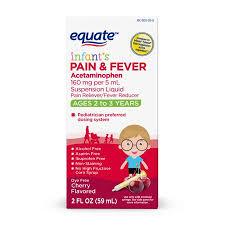 Equate Infants Acetaminophen Cherry Suspension 160mg 2oz