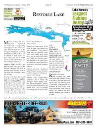 Restoule Lake Ontario Anglers Atlas