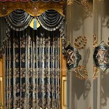 living room curtains with valance. Victorian Embroidered Floral Dark Blue Velvet Room Darkening Living Curtain (No Valance) Curtains With Valance T