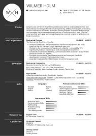 Professional Cv Format Download Mechanical Engineer Resume Template Image Cv Free Uk