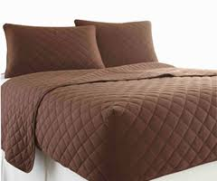 RV Bedding: Quilted Fitted Bedspreads in Short Queen Size & Micro Flannel RV Quilted Fitted Bedspread - Chocolate Adamdwight.com