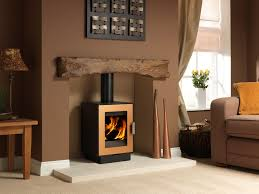 logfire lf4 wood burning stove copper an existing chimney