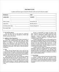 Commercial lease agreements are much more complicated than the residential leases as the terms and conditions are negotiable and flexible. Free 8 Apartment Lease Agreement Samples In Ms Word Pdf Pages Google Docs