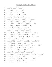 chemistry balancing chemical equations worksheet answer key