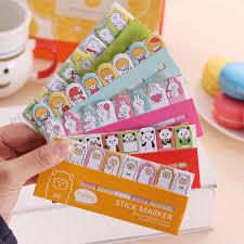 1 X Animal Girl Cute Kawaii Sticky Notes Post It Memo Pad School