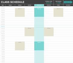 Class Schedule Excel Template Download Class Schedule