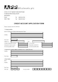 Rental Lease Application Form Credit Account Card Template Pdf