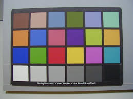 20 Image Of The Macbeth Colour Chart Taken With A