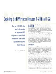 Exploring The Differences Between R 410a And R 22 Pages 1
