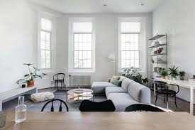 living room with bench