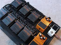 metal zone guitar pedalboard