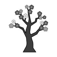手書き風でかわいい梅の木の無料イラスト商用フリー オイデ43